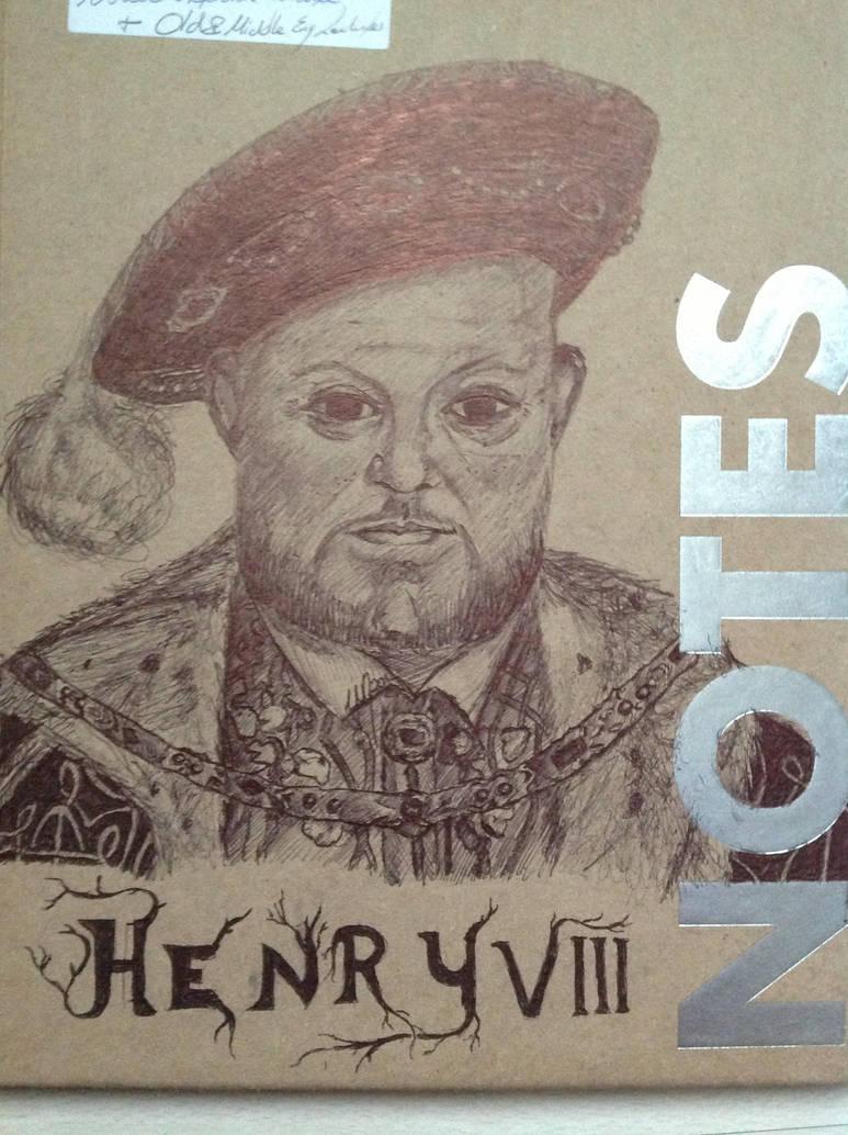 Henry VIII (black ballpoint pen drawing) by realtimeartist