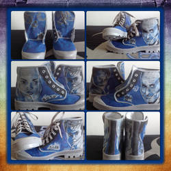 Dr who customised shoes II by realtimeartist