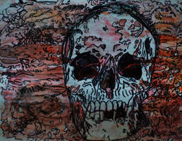 Water Color Skull 1 by tastybedsore