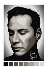 Keanu Reeves Vector by LuigiLA