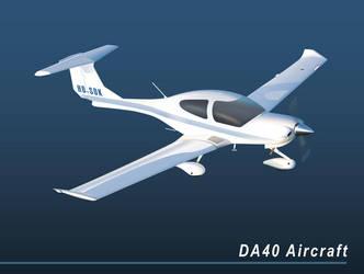 DA40 Aircraft Vector by LuigiLA