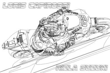 Loris Capirossi Vector Frame by LuigiLA