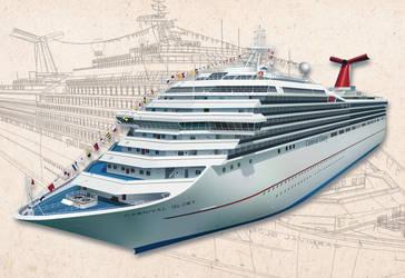 Carnival Cruise Vector Ship by LuigiLA