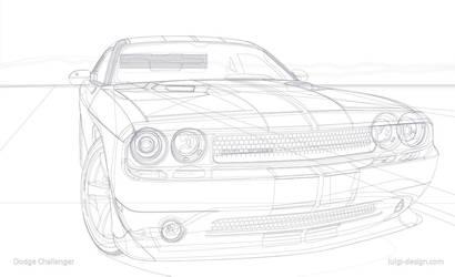 Dodge Challenger Vector - Wireframe by LuigiLA