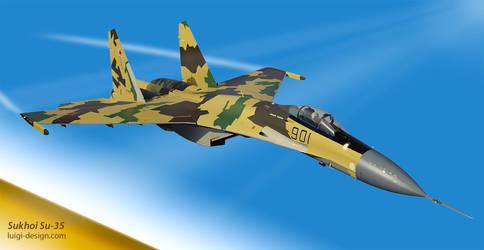 Vector Sukhoi Su-35 Fighter. by LuigiLA