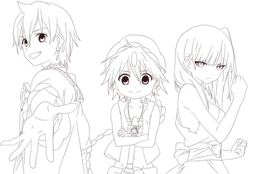 Magi [Lineart] by Advance996