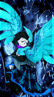 Gift-Azure!Sans- by Wolf-WrathKnight