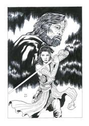 Rey and Luke Star Wars by Daniel-Alexandre