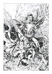 Black Adam vs Superman by Daniel-Alexandre