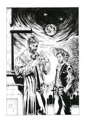 Constantine and Lucifer by Daniel-Alexandre