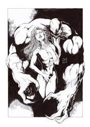 Mary Jane and Venom by Daniel-Alexandre