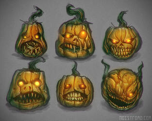 Pumpkins2013 - sketches. by noistromo