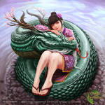 Girl and Dragon by CristianAC