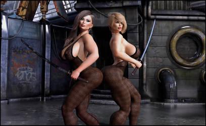 Aya and Audrey:  Bring It by almeidap