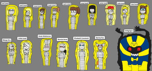 All the Mummy Ladies 3 by PeteDRaptor