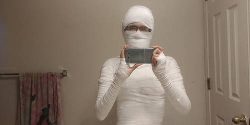 Me dressed as a Mummy Pharaoh 4 by PeteDRaptor