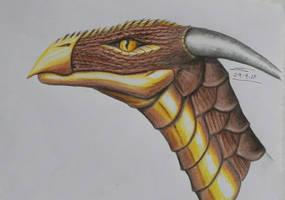 Golden Eagle dragon. by NaridTheNighthunter