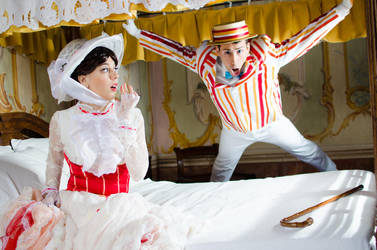 Mary Poppins and....crazy Bert XD by LadyGiselle