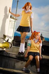 Kuroko and Misaka by LadyGiselle