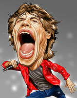 Mick Jagger by IborArt