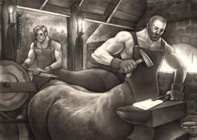 Blacksmiths by CooperCentaur