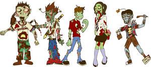 Creative Zombies by M-Watts-Art