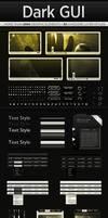 Dark Web GUI PSD Interface Kit by Giallo86