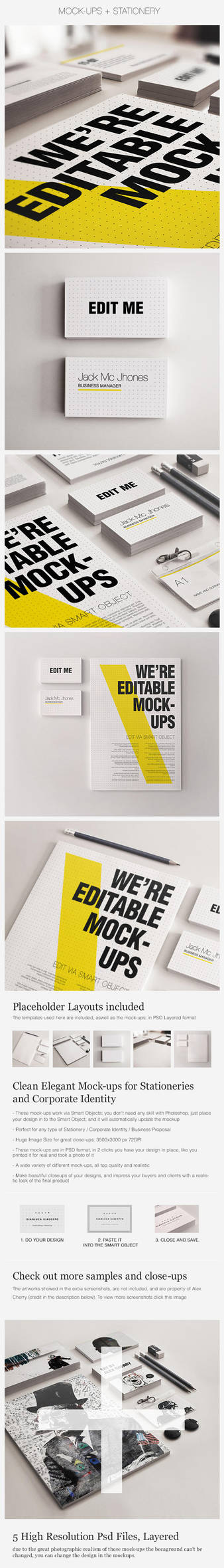 Realistic Stationery Mockups Set 3- Corporate ID by Giallo86