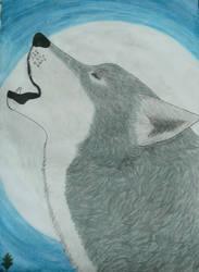 Howling Wolf by Yama-no-Mouken