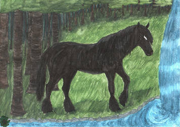 Black Horse by Yama-no-Mouken