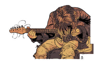 old kurt cobain by mister-bones