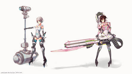 Winter Waverly Mecha Musume - Designs by softmode