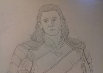 Loki Pencil Drawing by CaptainKPeanuts