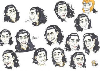 Loki Faces by CaptainKPeanuts