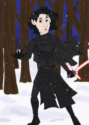 Kylo Ren In The Forest by CaptainKPeanuts
