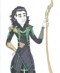 Loki outfit attempt by CaptainKPeanuts