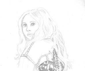 Karen Gillan Sketch by CaptainKPeanuts