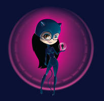 CatWoman armed with Pentool ID by LineBirgitte