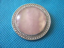 Jewelry: Pendant 001, 'Rose Colored Circle' by 4pplemoon