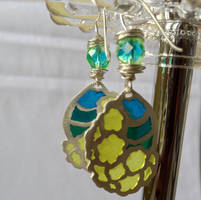 Jewelry: Earrings 003, 'Island Breeze' by 4pplemoon