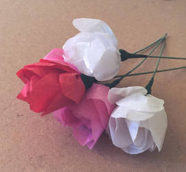 Papercraft: Flowers by 4pplemoon