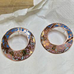 Jewelry: Earrings 005, 'Stained Sakura' by 4pplemoon