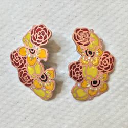 Jewelry: Earrings 007, Mature Flowers by 4pplemoon