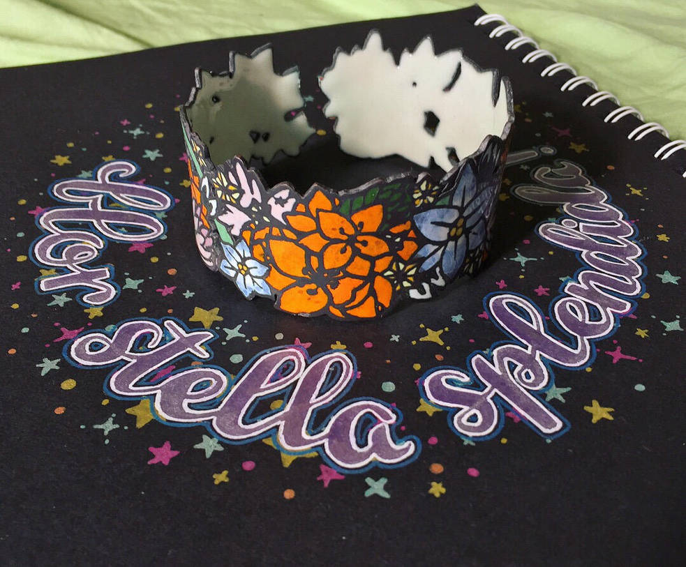 Jewelry: Bracelet 005, Flor Stella Splendida by 4pplemoon