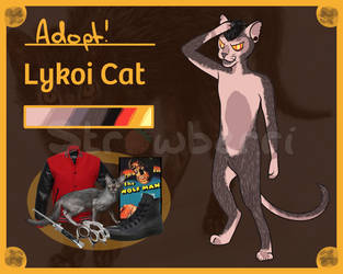 Lykoi Cat Adopt [OPEN Auction] by Strawberri-kra
