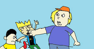 Chris and Gene beat up Johnny Test by mippytrippy