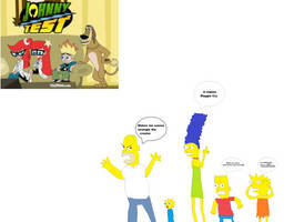 The Simpsons reaction to Johnny Test by mippytrippy