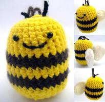 Crochet bee by philippajudith