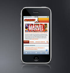 Comiquero iPhone Web App by fractma