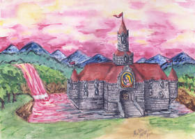 Princess Peach's castle by Mobicca